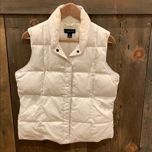 Land's End white puffer vest size small 6/8